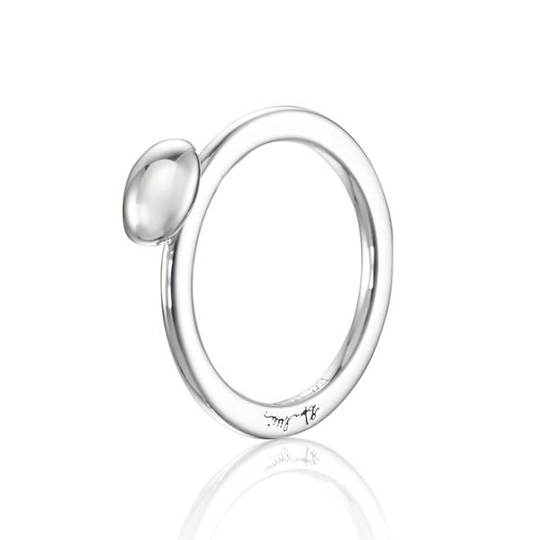 Love Bead Ring - Silver